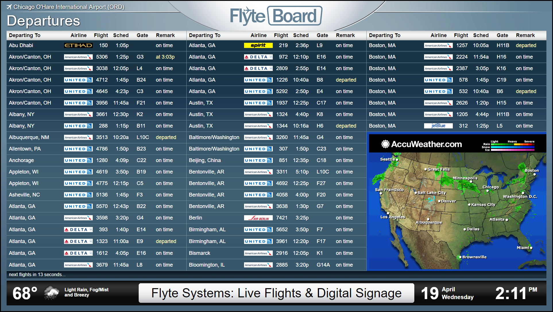Flight Information & Airport Display Board | Flyte Systems