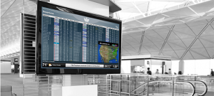 Airport digital signage